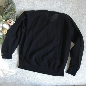 J. Crew Tops - J. Crew Black Mesh Long Sleeve Sz M